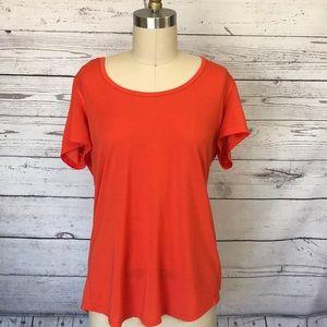 Lucy Orange Short Sleeve Athletic Tunic Size Large